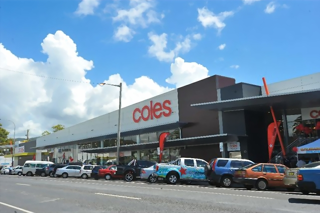 Coles Coffs Harbour view from outside